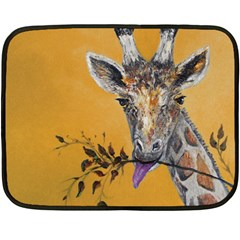 Giraffe Treat Mini Fleece Blanket (two Sided)