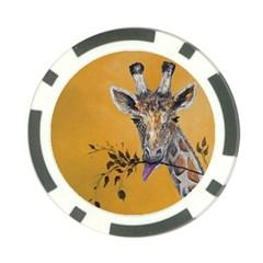 Giraffe Treat Poker Chip (10 Pack)