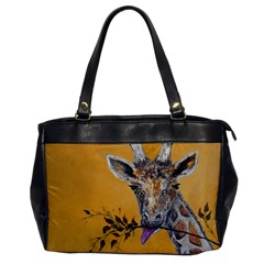 Giraffe Treat Oversize Office Handbag (one Side)