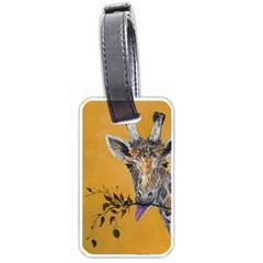 Giraffe Treat Luggage Tag (One Side)