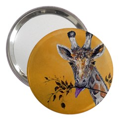 Giraffe Treat 3  Handbag Mirror