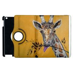 Giraffe Treat Apple iPad 2 Flip 360 Case