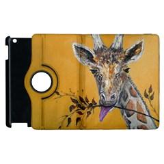 Giraffe Treat Apple iPad 3/4 Flip 360 Case