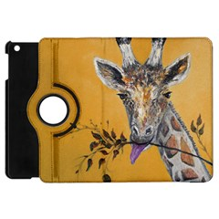 Giraffe Treat Apple Ipad Mini Flip 360 Case