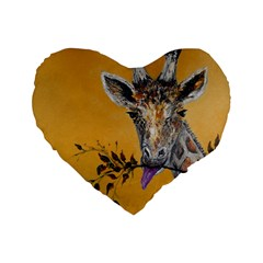 Giraffe Treat 16  Premium Heart Shape Cushion