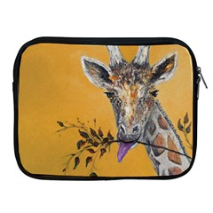 Giraffe Treat Apple iPad Zippered Sleeve