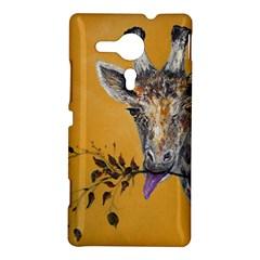 Giraffe Treat Sony Xperia SP M35H Hardshell Case