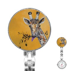Giraffe Treat Stainless Steel Nurses Watch