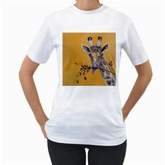 Giraffe Treat Women s T-Shirt (White)