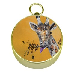 Giraffe Treat Gold Compass