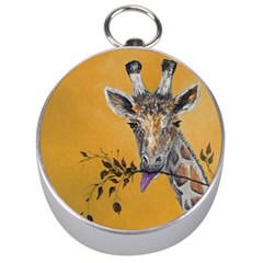 Giraffe Treat Silver Compass