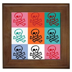 Skull Framed Ceramic Tile