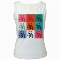 Skull Women s Tank Top (White)