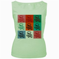 Skull Women s Tank Top (green)