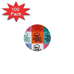 Skull 1  Mini Button (100 Pack)