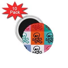 Skull 1.75  Button Magnet (10 pack)
