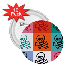 Skull 2.25  Button (10 pack)