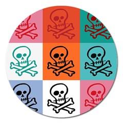 Skull Magnet 5  (Round)
