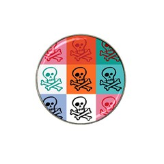 Skull Golf Ball Marker 4 Pack (for Hat Clip)