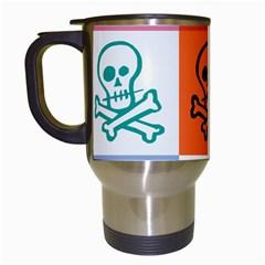 Skull Travel Mug (White)