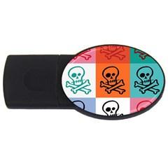 Skull 4GB USB Flash Drive (Oval)