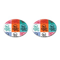 Skull Cufflinks (Oval)