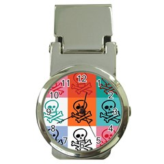 Skull Money Clip with Watch