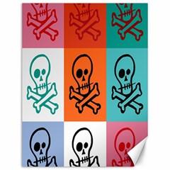 Skull Canvas 12  x 16  (Unframed)
