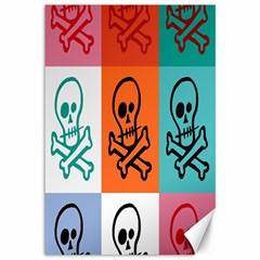 Skull Canvas 12  x 18  (Unframed)