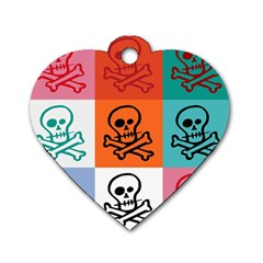 Skull Dog Tag Heart (One Sided)