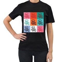 Skull Women s T Shirt (black)