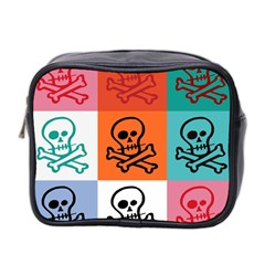 Skull Mini Travel Toiletry Bag (two Sides)