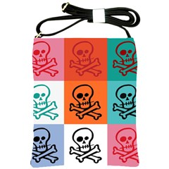 Skull Shoulder Sling Bag