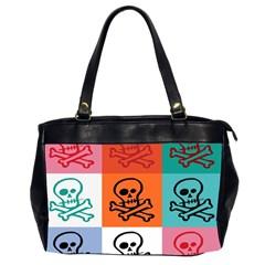 Skull Oversize Office Handbag (two Sides)