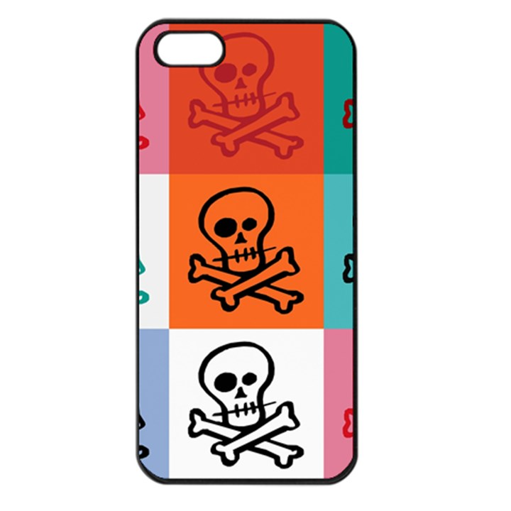 Skull Apple iPhone 5 Seamless Case (Black)