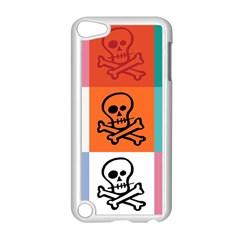Skull Apple iPod Touch 5 Case (White)
