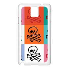 Skull Samsung Galaxy Note 3 N9005 Case (White)