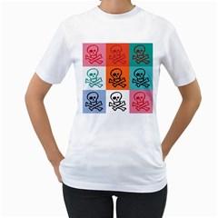 Skull Women s T-Shirt (White)