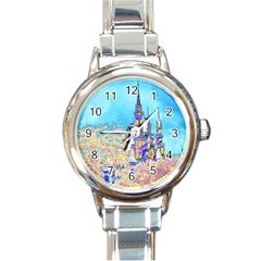 Castle For A Princess Round Italian Charm Watch