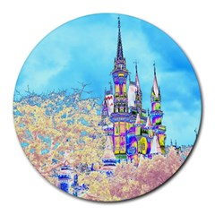 Castle For A Princess 8  Mouse Pad (round)
