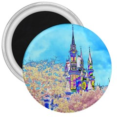 Castle For A Princess 3  Button Magnet