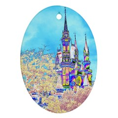 Castle for a Princess Oval Ornament