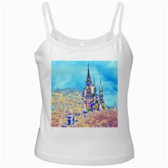 Castle for a Princess White Spaghetti Tank