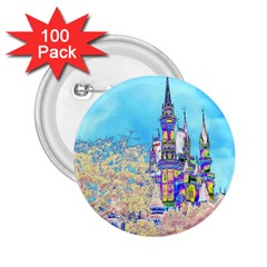 Castle for a Princess 2.25  Button (100 pack)
