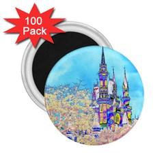 Castle for a Princess 2.25  Button Magnet (100 pack)