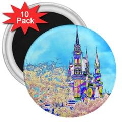 Castle for a Princess 3  Button Magnet (10 pack)