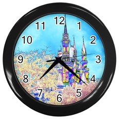 Castle For A Princess Wall Clock (black)