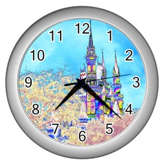 Castle for a Princess Wall Clock (Silver)