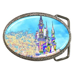 Castle for a Princess Belt Buckle (Oval)