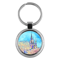Castle for a Princess Key Chain (Round)